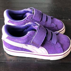 Purple Puma Sneakers with Velcro